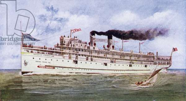 Steamer Theodore Roosevelt (colour photo)
