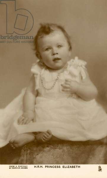 Queen Elizabeth II as a baby, 1926 (b/w photo)