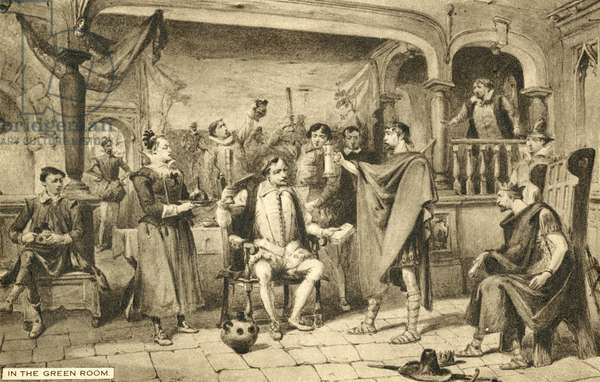 Shakespeare, In the Green Room (litho)