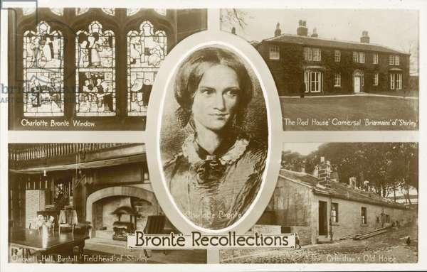 Charlotte Bronte, English novelist (b/w photo)