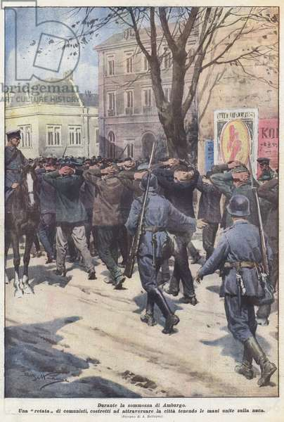 Durante la sommossa di Amburgo (colour litho)