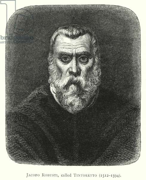 Jacopo Robusti, called Tintoretto, 1512-1594 (engraving)