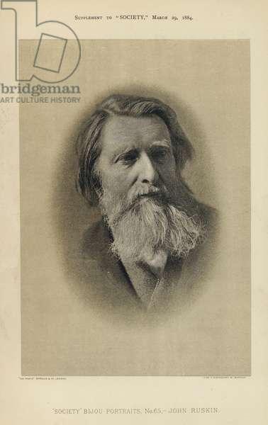 John Ruskin (b/w photo)