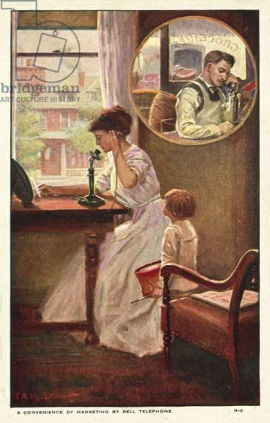 A marketing telephone call (colour litho)