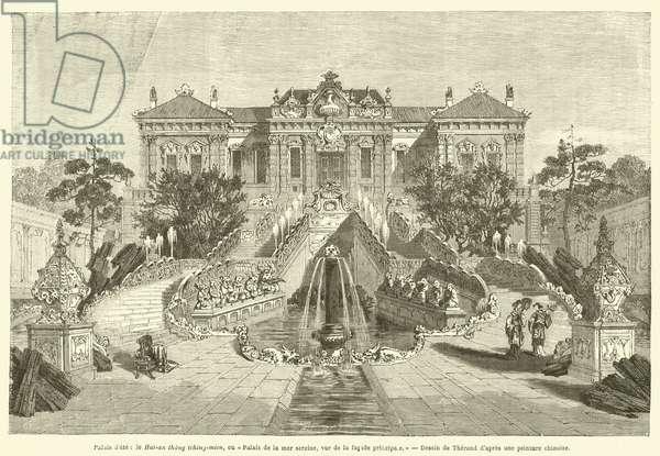 Palais d'ete, le Hai-an thang tching-mien, ou Palais de la mer sereine, vue de la facade principale (engraving)