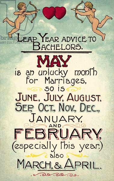 Leap Year advice to Bachelors (colour litho)