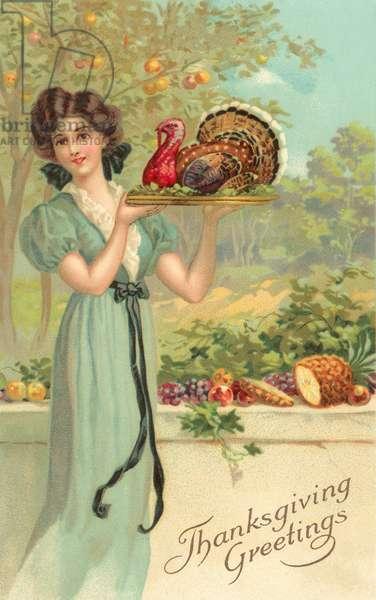 Thanksgiving Greetings (colour litho)