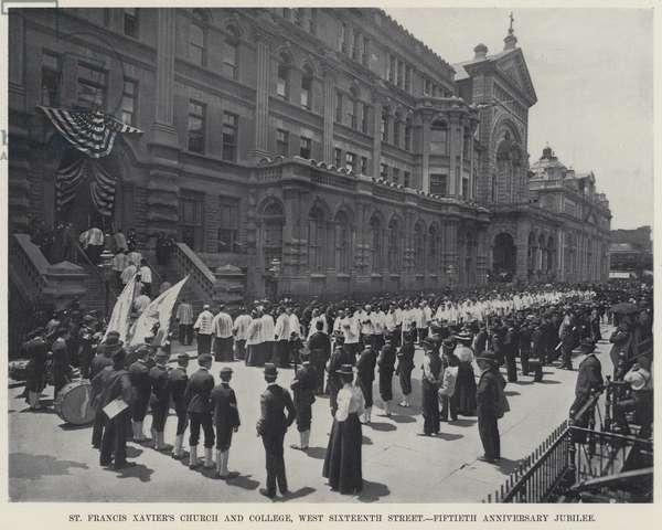 St Francis Xavier's Church and College, West Sixteenth Street, Fiftieth Anniversary Jubilee (b/w photo)