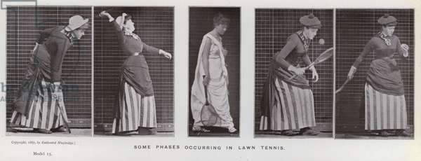 The Human Figure in Motion: Some phases occurring in lawn tennis (b/w photo)