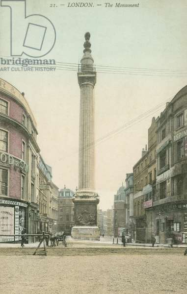 The Monument to the Great Fire, London (colour photo)