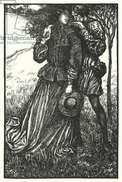 Matthew Arnold poem: Consolation (engraving)