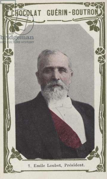 Emile Loubet, President (coloured photo)