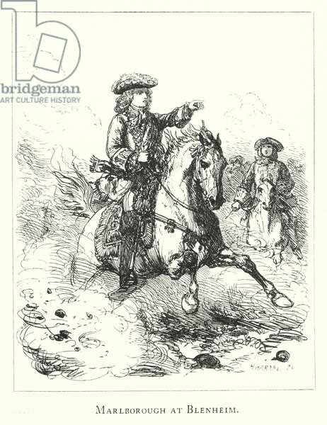 Marlborough at Blenheim (engraving)