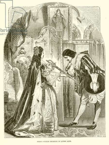 Prince Eugene received by Queen Anne (engraving)