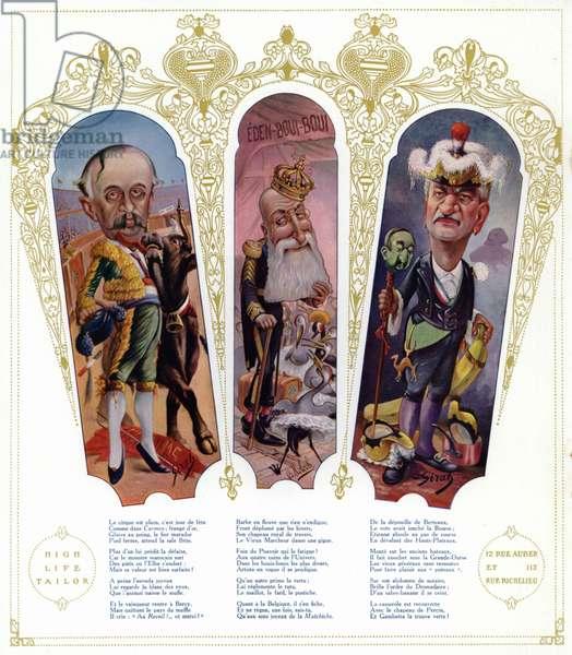 Caricatures (colour litho)