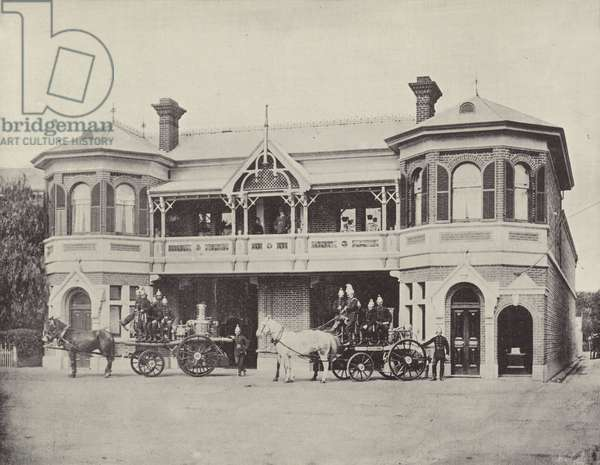 Metropolitan Fire Brigade Station, Adelaide (b/w photo)