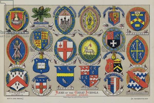 Arms of the Great Schools (chromolitho)