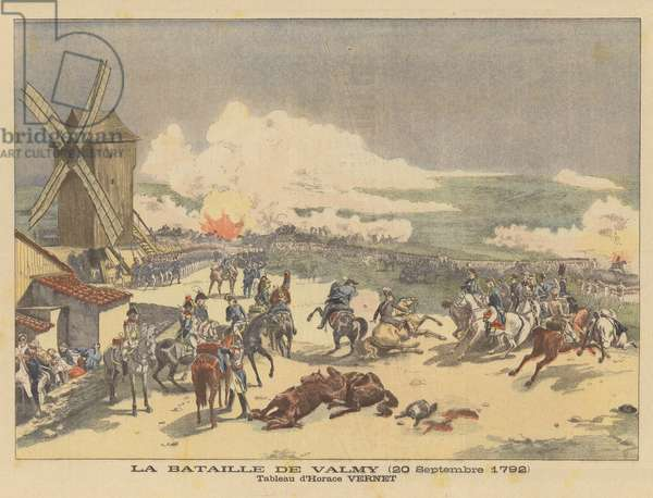 The Battle of Valmy (20 September 1792) (colour litho)