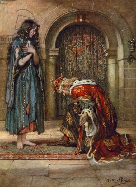 Tennyson, The Beggar-Maid (colour litho)