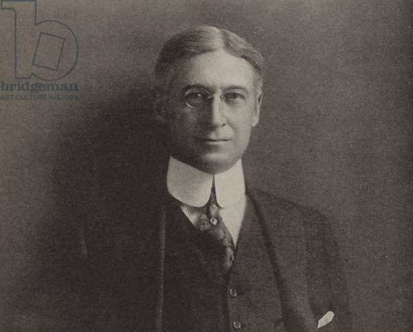 Bernard M Baruch, American financier who advised President Woodrow Wilson on supplying the US war effort in the First World War (b/w photo)