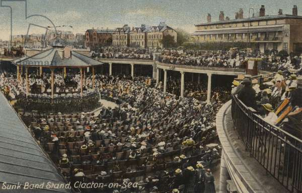 Sunk Band Stand, Clacton-on-Sea (coloured photo)
