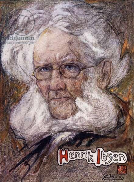 Norway: Henrik Ibsen (colour litho)
