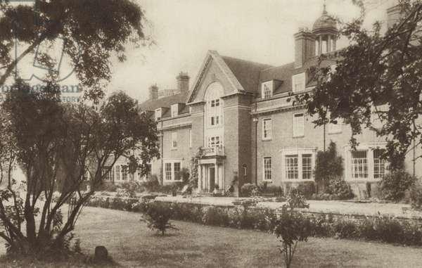 St Hugh's College (b/w photo)