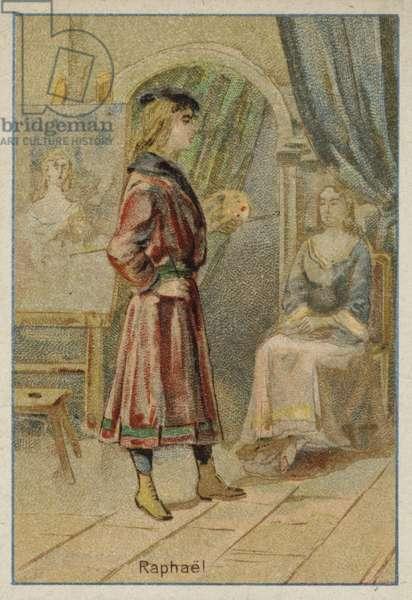 Raphael, Italian Renaissance artist (chromolitho)