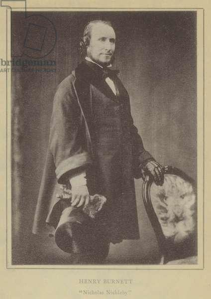Henry Burnett, Nicholas Nickleby (litho)
