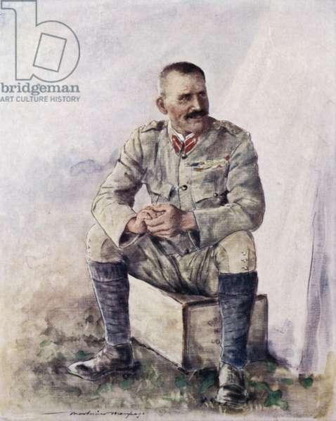 Lieutenant-General Hector Macdonald outside Bloemfontein (colour litho)