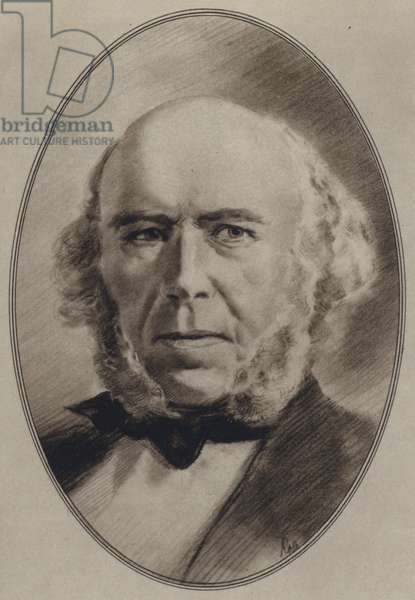Portraits of Great Philosophers: Spencer (litho)