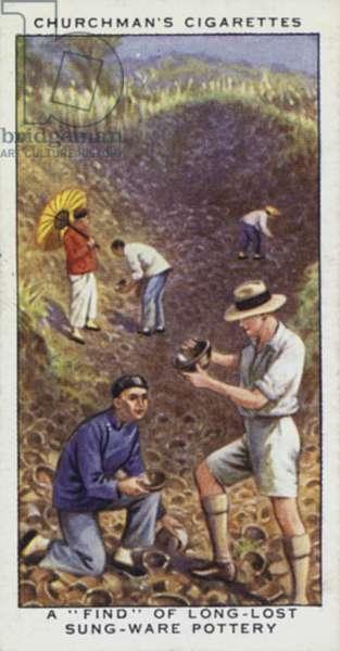 Treasure Trove: A find of long-lost Sung-ware pottery (colour litho)