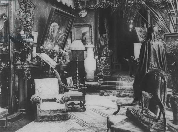 In the Home of Sarah Bernhardt (b/w photo)