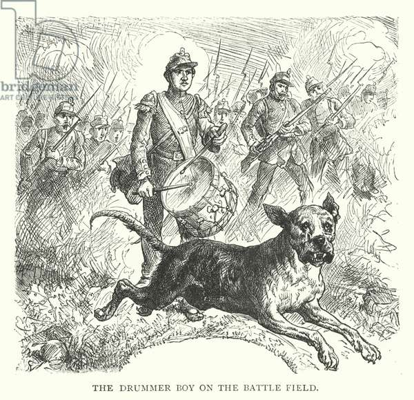 The Drummer Boy on the Battle Field (engraving)
