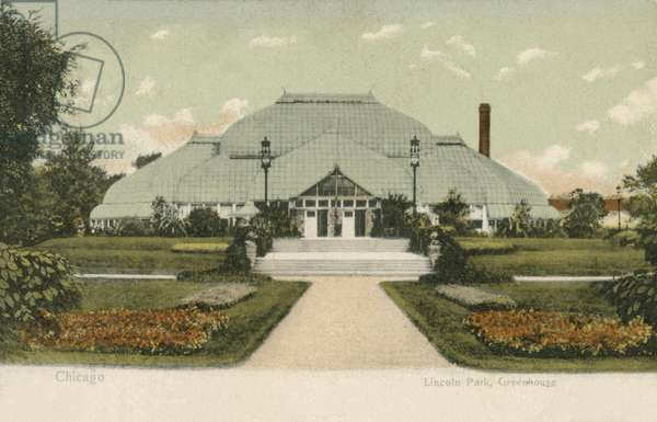 Lincoln Park Greenhouse, Chicago (colour photo)