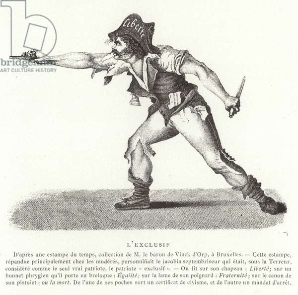 The 'Exclusive', French Revolution (engraving)