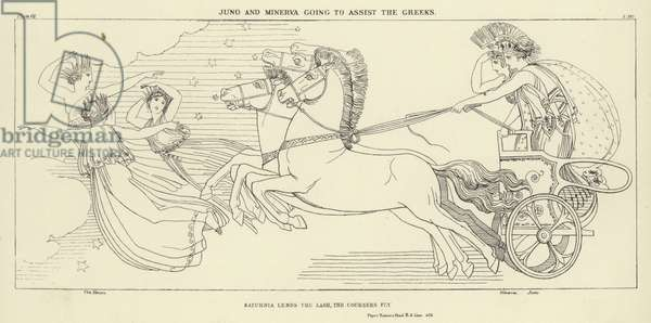 Juno and Minerva going to assist the Greeks (engraving)