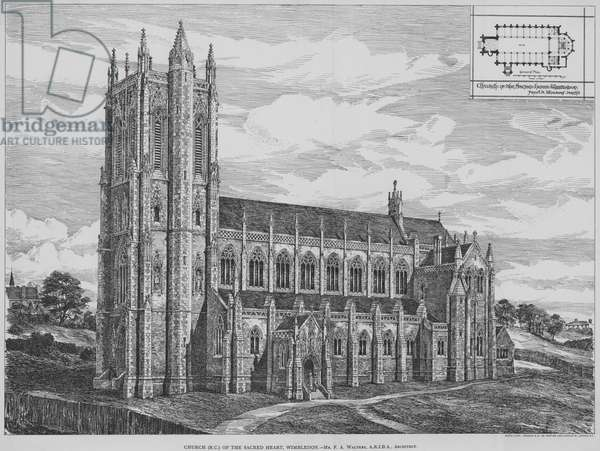 Church (RC) of the Sacred Heart, Wimbledon (engraving)