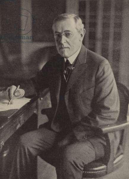 Woodrow Wilson, 28th President of the United States (b/w photo)
