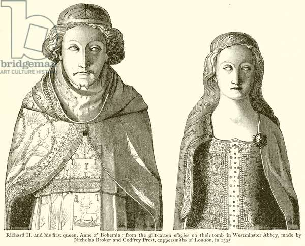 Richard II and his First Queen, Anne of Bohemia (engraving)