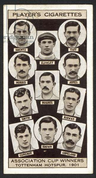Association Cup Winners, Tottenham Hotspur, 1901 (litho)