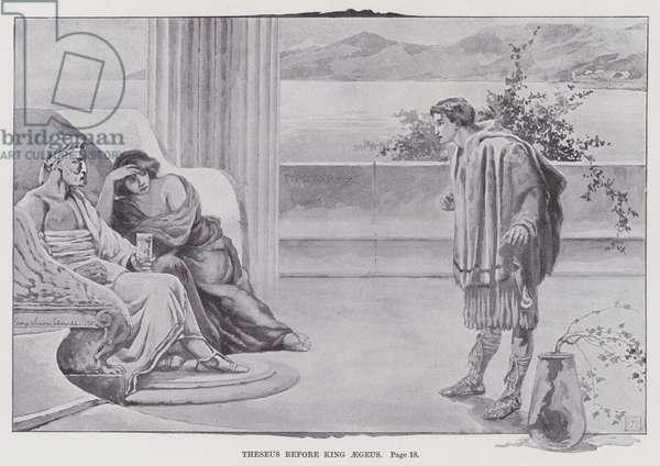 Theseus before King Aegeus (litho)