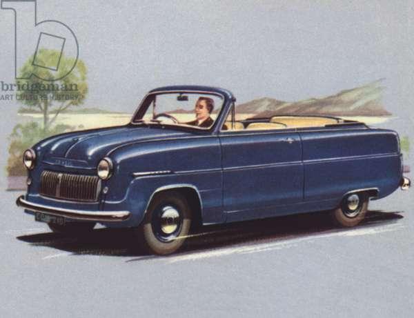 Britain, Ford Consul Convertible (colour litho)