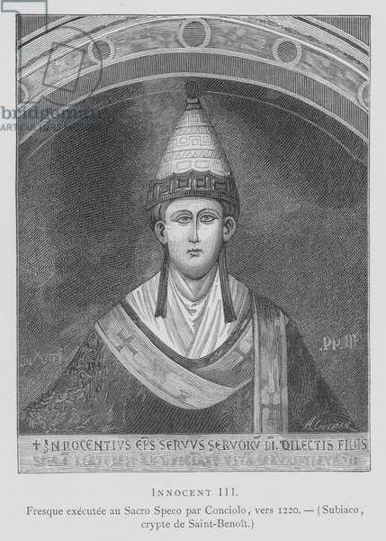 Pope Innocent III (litho)