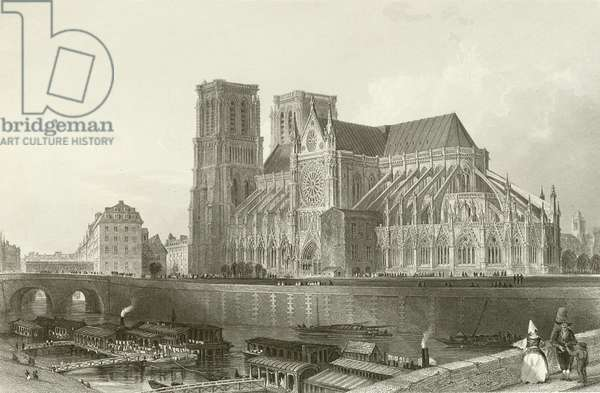 Cathedral of Notre Dame - Paris (engraving)