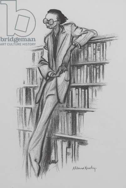Aldous Huxley, English writer and philosopher (litho)
