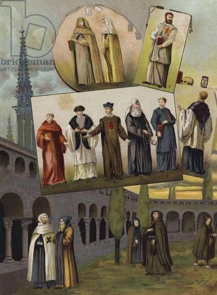 Christian religious orders, 1500-1600 (chromolitho)