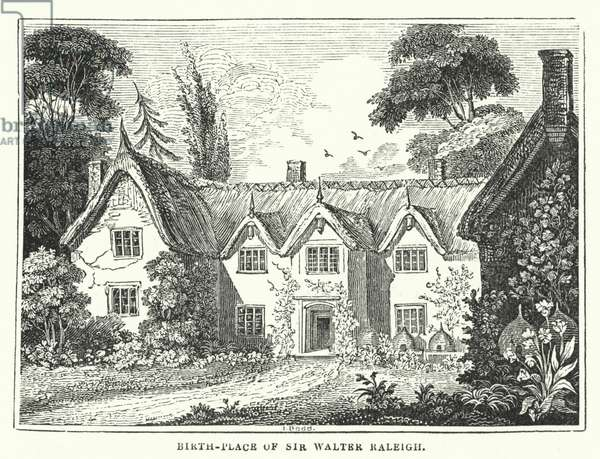 Birth-Place of Sir Walter Raleigh (engraving)