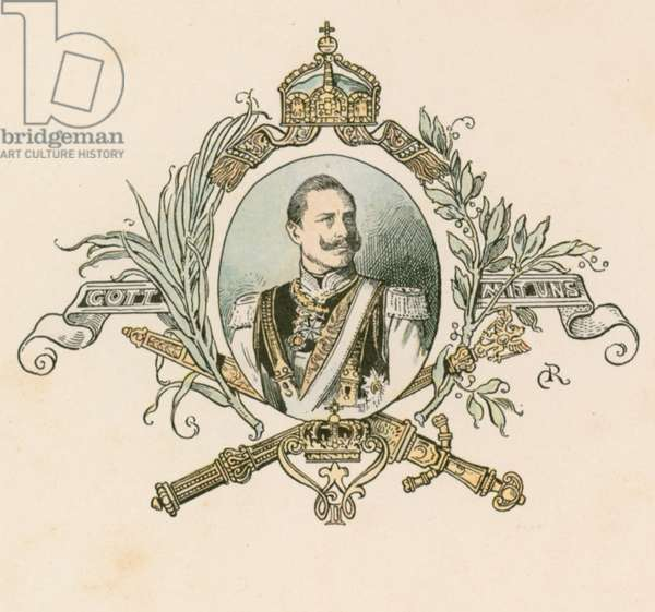 Kaiser Wilhelm II, German Emperor and King of Prussia (1859-1941) (colour litho)