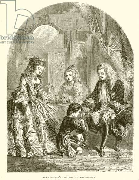 Horace Walpole's First Interview with George I (engraving)